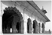 Hammans (baths), Red Fort. New Delhi, India ( black and white)