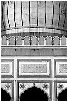 Dome and arches detail, Jama Masjid. New Delhi, India ( black and white)