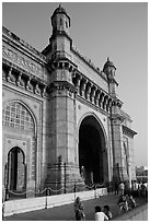 Gateway of India, early morning. Mumbai, Maharashtra, India ( black and white)