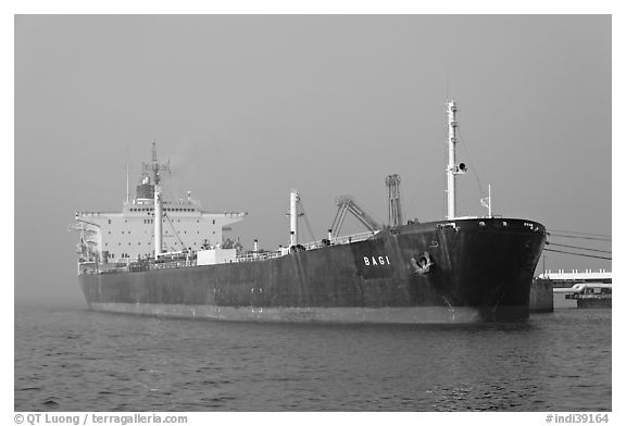Oil Tanker, Mumbai Harbor. Mumbai, Maharashtra, India
