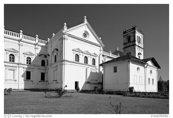 Se Cathedral fron the side, Old Goa. Goa, India