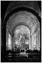 Side chapel, Se Cathedral , Old Goa. Goa, India ( black and white)