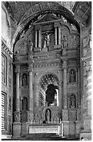 Main altar, Church of St Francis of Assisi, Old Goa. Goa, India ( black and white)