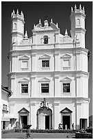 Portuguese church of St Francis of Assisi, Old Goa. Goa, India ( black and white)
