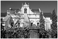 Church and convent of St Monica, Old Goa. Goa, India ( black and white)