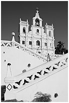 Church of our Lady of the Immaculate Conception, Panaji (Panjim). Goa, India ( black and white)
