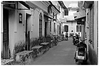 Alley, Panjim (Panaji). Goa, India (black and white)