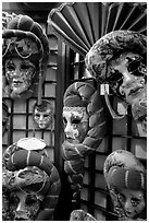 Carnival masks. Venice, Veneto, Italy ( black and white)