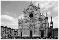 Santa Croce. Florence, Tuscany, Italy ( black and white)