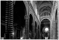 Interior of the Duomo. Siena, Tuscany, Italy ( black and white)