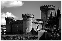 Castle. Tivoli, Lazio, Italy (black and white)