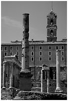 Roman Form and Palazzo Senatorio. Rome, Lazio, Italy ( black and white)