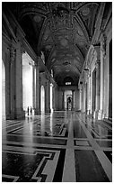 Entrance of Basilica San Pietro. Vatican City ( black and white)