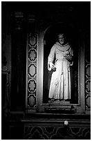 Statue of a saint. Naples, Campania, Italy (black and white)