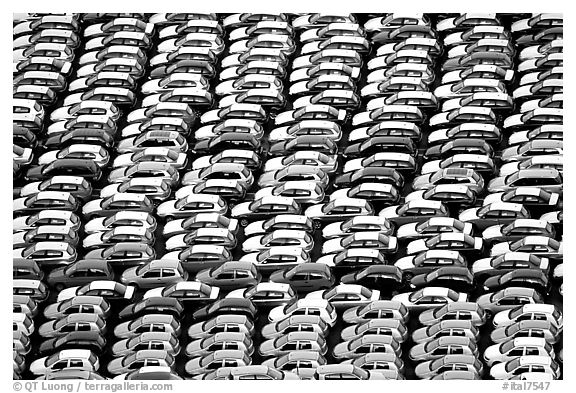 Cars waiting for shipping in Salerno port. Amalfi Coast, Campania, Italy