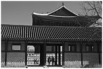 Gyotae-jeon, Gyeongbokgung royal Joseon palace. Seoul, South Korea (black and white)