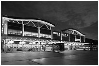 Bus terminal, Andong. South Korea ( black and white)