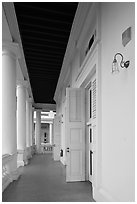 Gallery outside supreme court. George Town, Penang, Malaysia (black and white)