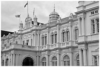 City Hall. George Town, Penang, Malaysia ( black and white)