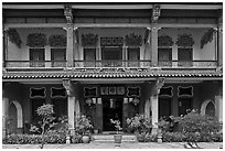 Facade, Cheong Fatt Tze Mansion. George Town, Penang, Malaysia ( black and white)