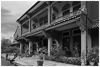 Chinese Courtyard House (Cheong Fatt Tze Mansion). George Town, Penang, Malaysia (black and white)