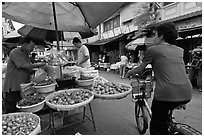 Street market, chinatown. George Town, Penang, Malaysia ( black and white)