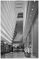 Main lobby, Marina Bay Sands hotel. Singapore (black and white)