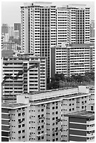 Residential appartment buildings. Singapore ( black and white)