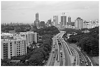 West Coast Highway. Singapore ( black and white)