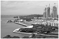 Marina, Keppel Bay. Singapore ( black and white)