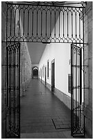Corridor in Hospicios de Cabanas. Guadalajara, Jalisco, Mexico (black and white)