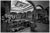 Historic Hotel Frances. Guadalajara, Jalisco, Mexico (black and white)