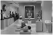 Art gallery featuring works by Bustamante, Tlaquepaque. Jalisco, Mexico (black and white)