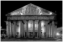 Teatro Degollado by night. Guadalajara, Jalisco, Mexico (black and white)