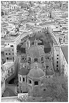 Church of San Diego and Jardin de la Union. Guanajuato, Mexico (black and white)