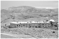 Nabi Musa Monastery in the Judean Desert. West Bank, Occupied Territories (Israel) (black and white)