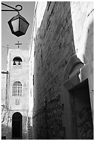 Church, Safed (Tzfat). Israel ( black and white)
