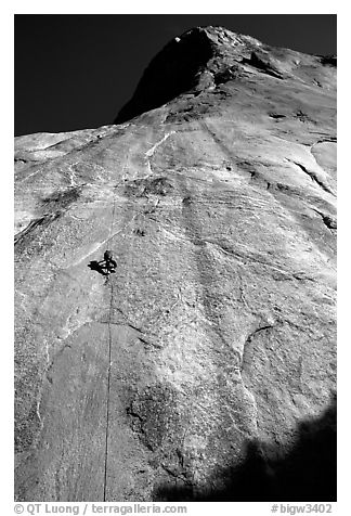 Jugging back to Sickle. Only 34 pitches to go !. El Capitan, Yosemite, California