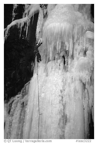 Stalactite of the Moulins Falls, La Grave. Alps, France