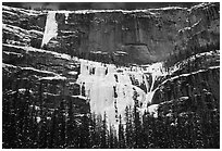 Lower Weeping Wall. Canada (black and white)