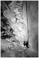 Climbing in  Provo Canyon, Utah. USA (black and white)
