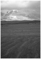 Ash formation, Valley of Ten Thousand smokes. Katmai National Park, Alaska, USA. (black and white)