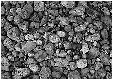 Detail of pumice, Valley of Ten Thousand smokes. Katmai National Park ( black and white)