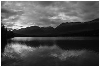 Kontrashibuna Lake, sunrise. Lake Clark National Park ( black and white)