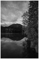 Kontrashibuna Lake in autumn. Lake Clark National Park ( black and white)