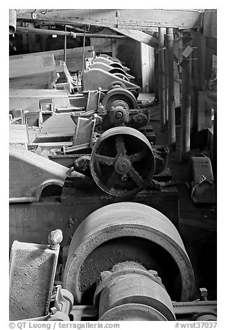 Machinery in the Kennecott concentration plant. Wrangell-St Elias National Park, Alaska, USA.
