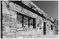 Ruins of historic bathhouse. Big Bend National Park ( black and white)