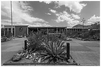 Panther Junction visitor center. Big Bend National Park ( black and white)