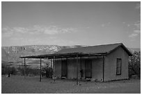 Historic custom house, Castolon. Big Bend National Park ( black and white)