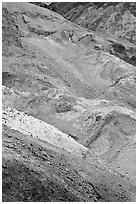 Artist's palette. Death Valley National Park ( black and white)